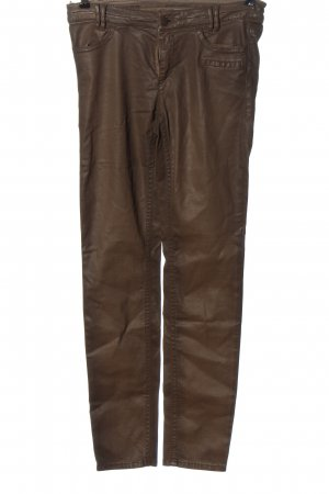 Marc Cain Faux Leather Trousers brown casual look
