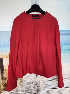 Marc Cain Wool Jacket raspberry-red-neon red