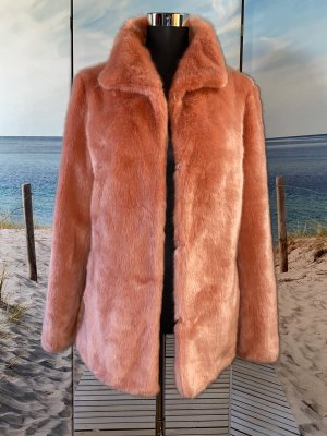 Marc Cain Fake Fur Jacket apricot-salmon