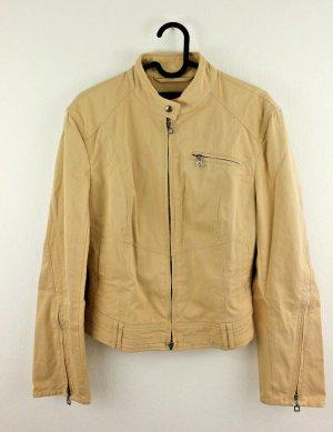 MARC CAIN Jacke Biker beige Gr. N 2 36 Baumwolle