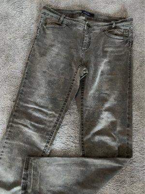 Marc Cain Spodnie khaki zielono-szary