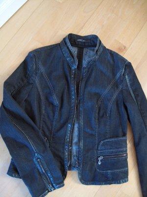 Marc Cain Jeans Jacke Gr. N 4/ 40 Schwarz Luxus Pur.