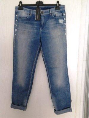 Marc Cain Boyfriend Jeans blue cotton