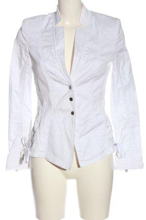 Marc Cain Marynarka jeansowa biały W stylu casual
