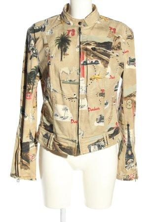 Marc Cain Veste en jean motif abstrait style décontracté