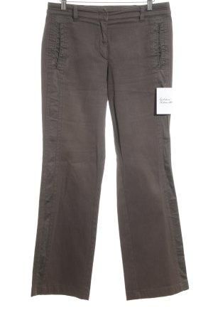 Marc Cain Jeansschlaghose braun Textil-Applikation
