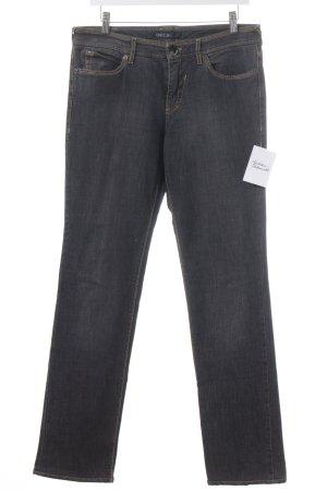 Marc Cain Jeansschlaghose taupe-gelb Jeans-Optik
