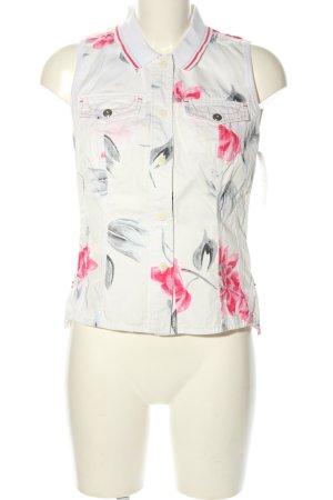 Marc Cain Denim Vest flower pattern casual look