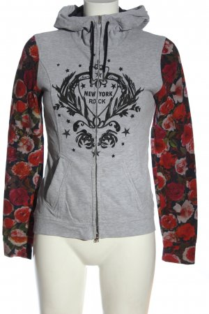 Marc Cain Kapuzensweatshirt Blumenmuster Casual-Look
