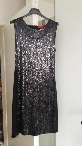 Marc Cain Cekinowa sukienka czarny