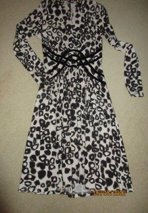 Marc Cain Longsleeve Dress black-white viscose