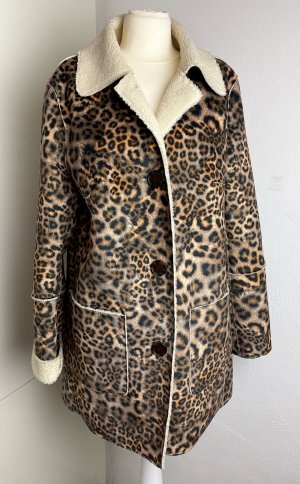 * MARC CAIN * KUNST PELZ MANTEL LEO PRINT fake fur * TOP ZUSTAND *  Gr N 2 36 38 M S