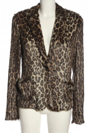 Marc Cain Fake Fur Jacket allover print casual look