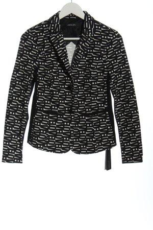Marc Cain Korte blazer wit-zwart volledige print casual uitstraling