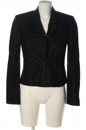 Marc Cain Kurz-Blazer schwarz-hellgrau Allover-Druck Business-Look