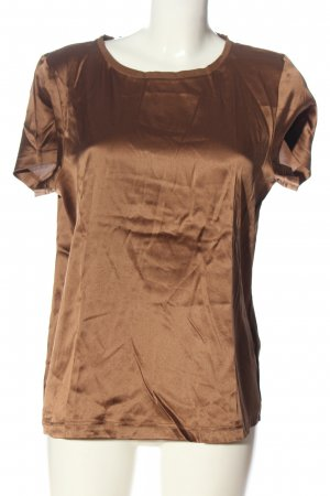 Marc Cain Kurzarm-Bluse bronzefarben Casual-Look