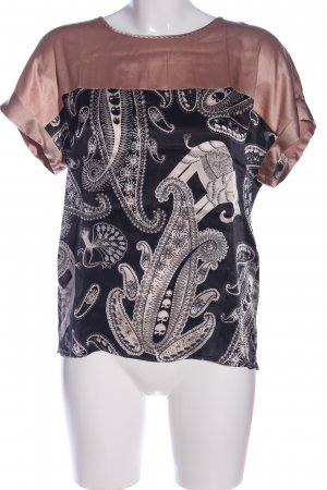 Marc Cain Kurzarm-Bluse abstraktes Muster Casual-Look