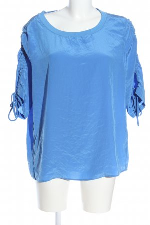 Marc Cain Kurzarm-Bluse blau Casual-Look