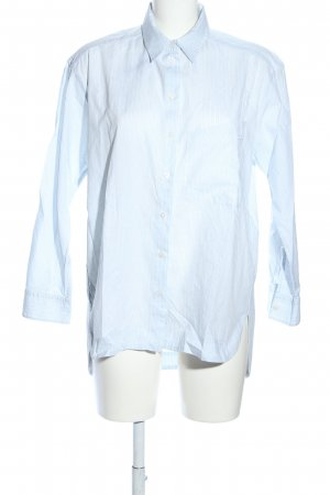 Marc Cain Langarmhemd blau-weiß Streifenmuster Business-Look