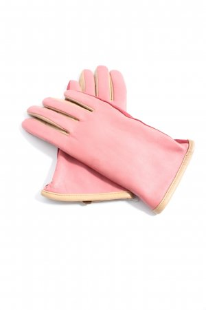 Marc Cain Leather Gloves red casual look