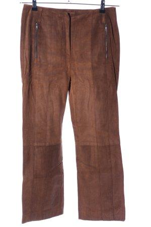 Marc Cain Lederhose bronzefarben Business-Look