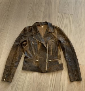 Marc Cain Biker Jacket brown-light brown