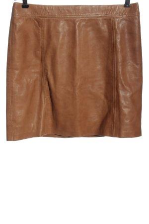 Marc Cain Jupe en cuir brun style décontracté