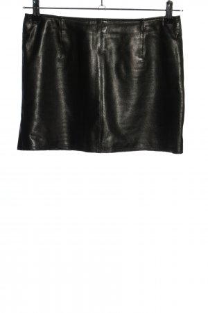 Marc Cain Leather Skirt black extravagant style