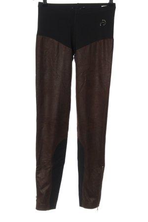 Marc Cain Leggings schwarz-braun extravaganter Stil