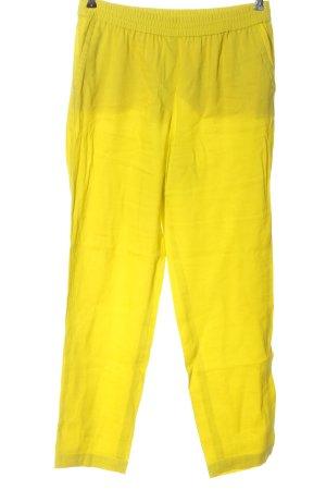 Marc Cain Pantalon en lin jaune primevère style décontracté