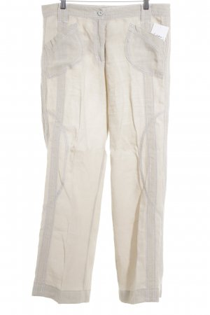 Marc Cain Leinenhose hellbeige Casual-Look