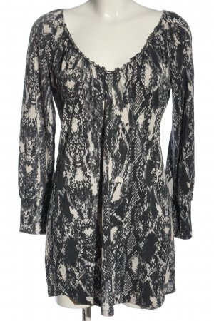 Marc Cain Long-Bluse schwarz-weiß Animalmuster Casual-Look