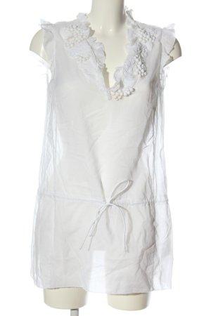 Marc Cain Długa bluzka biały W stylu casual