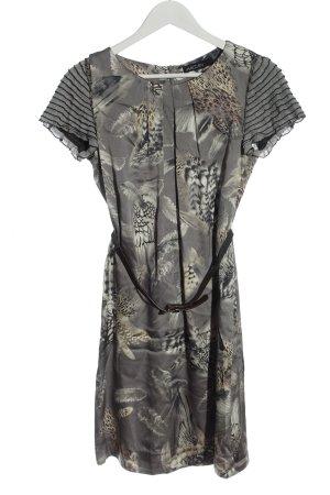 Marc Cain Shortsleeve Dress light grey abstract pattern elegant