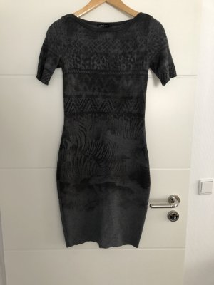 MARCCAIN Vestido de lana gris-gris oscuro
