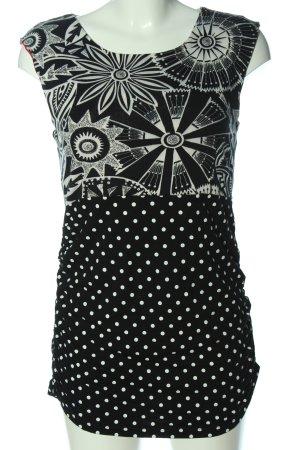 Marc Cain Minikleid schwarz-wollweiß abstraktes Muster Casual-Look