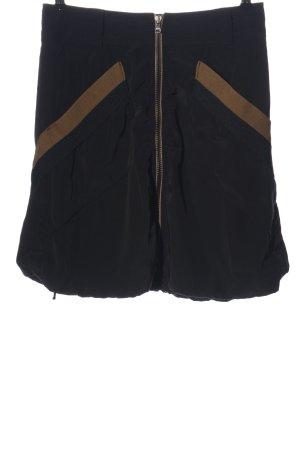 Marc Cain Mini rok zwart-bruin casual uitstraling