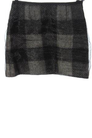 Marc Cain Mini rok zwart-lichtgrijs geruite print casual uitstraling