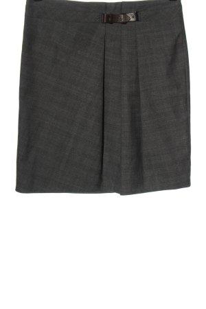 Marc Cain Mini rok lichtgrijs-zwart geruite print casual uitstraling