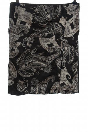 Marc Cain Mini rok zwart-wit abstract patroon casual uitstraling