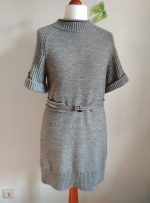 Marc Cain N4 Gr.38 40 M L Kleid Strickkleid Grau Wolle Wollkleid Gürtel