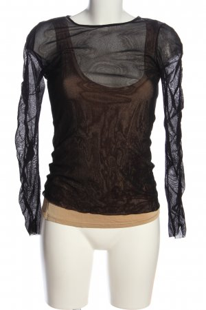 Marc Cain Mesh Shirt black-nude casual look