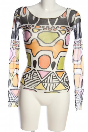 Marc Cain Mesh Shirt abstract pattern casual look