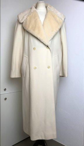 * MARC CAIN * NEU ! oversize WINTER MANTEL 50% KASCHMIR 40% Wolle zweireihg fake fur Gr N 3   D 38 40 M