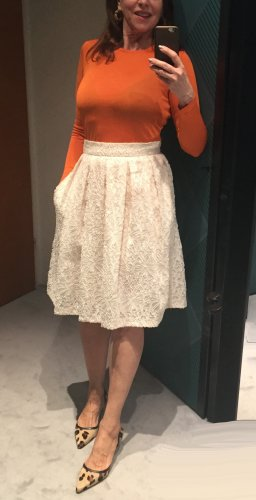 Marc Cain Lace Skirt cream cotton