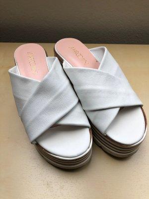 Marc Cain Platform Sandals white-brown