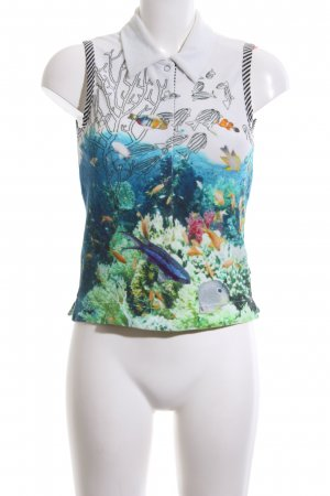 Marc Cain Polo Top themed print casual look