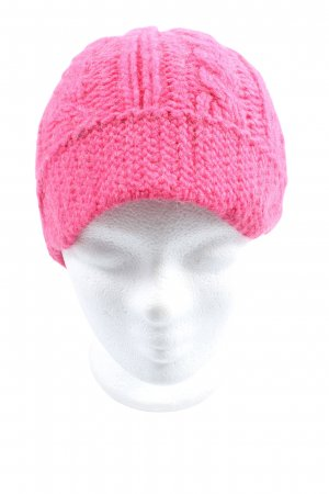 Marc Cain Knitted Hat pink casual look