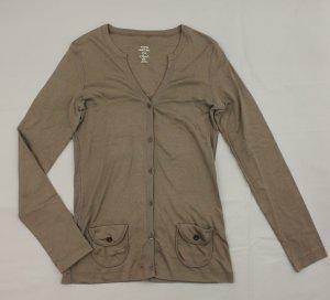 MARC CAIN Pullover Strickjacke Cardigan Gr. N 2 36 grau braun