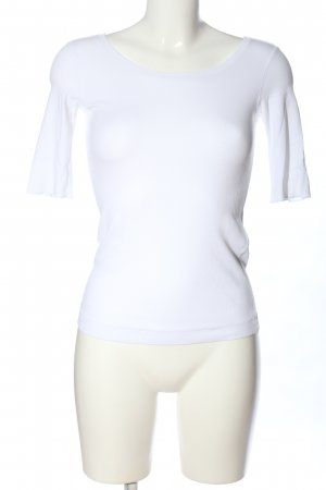 Marc Cain Geribd shirt wit gedrukte letters casual uitstraling